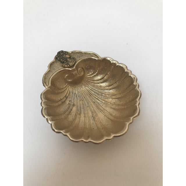 Vintage Footed Brass Shell Catch All Bowl - Image 3 of 7