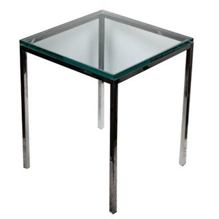 Polished Chrome and Glass Side Table by Brueton C. 1974