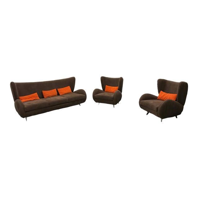 """Vladimir Kagan """"Fiftyish"""" Sofa & Chairs - Set of 3 - Image 1 of 9"""