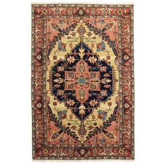 RugsinDallas Hand Knotted Wool Persian Serapi Style. Romanian Rug - 5′11″ × 9′