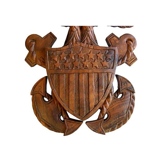 1960s Carved Wooden Patriotic Plaque - Image 6 of 6