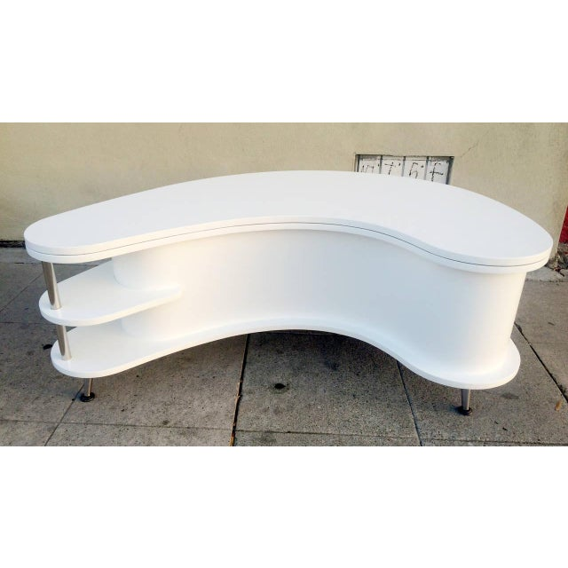 Image of Rare Mid-Century Modern Coffee Table With Collapsi