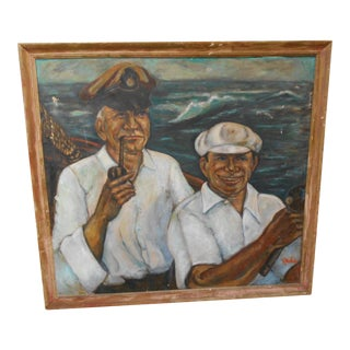 Salty Sailors Oil on Canvas Portrait