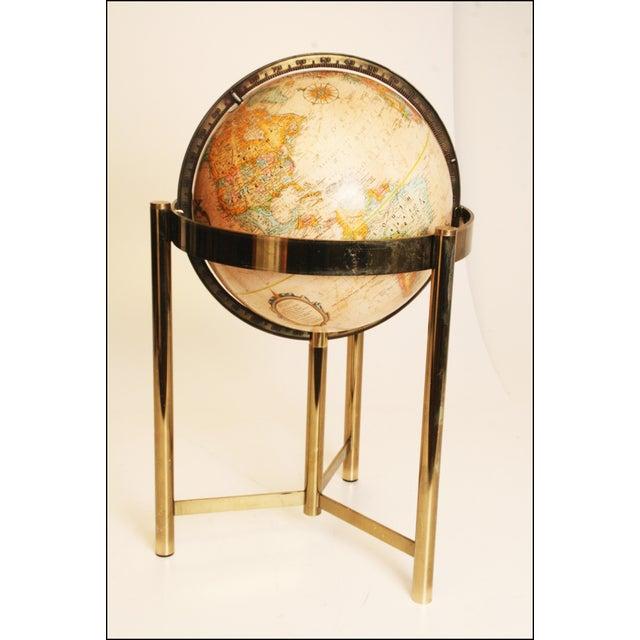 Mid-Century Modern Replogle World Globe W Brass Stand - Image 3 of 11