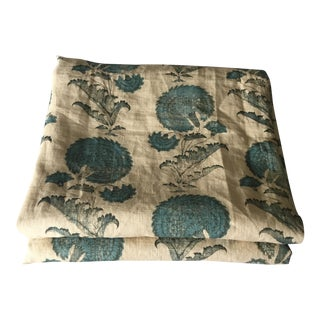 Indian Flower Fabric Remnant by Jasper - 3 Yards