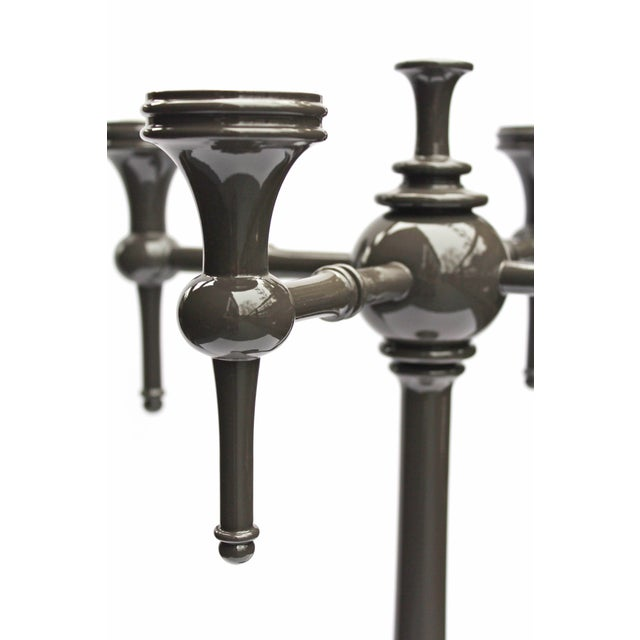 "Dunes and Duchess ""Moderne"" Candelabra in Grey - Image 5 of 7"