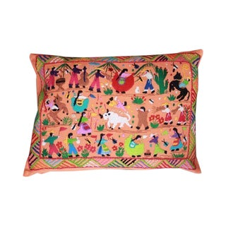 Orange El Rodeo Pillow Cover