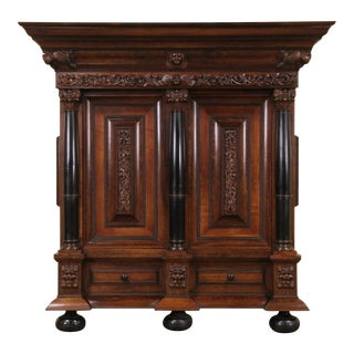 1860s Belgian Locking Armoire