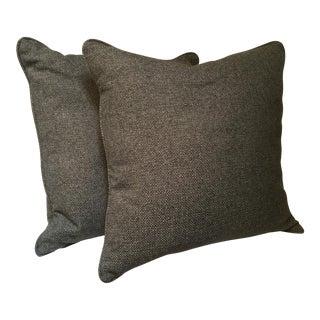 Gray Weave Custom Pillows - a Pair