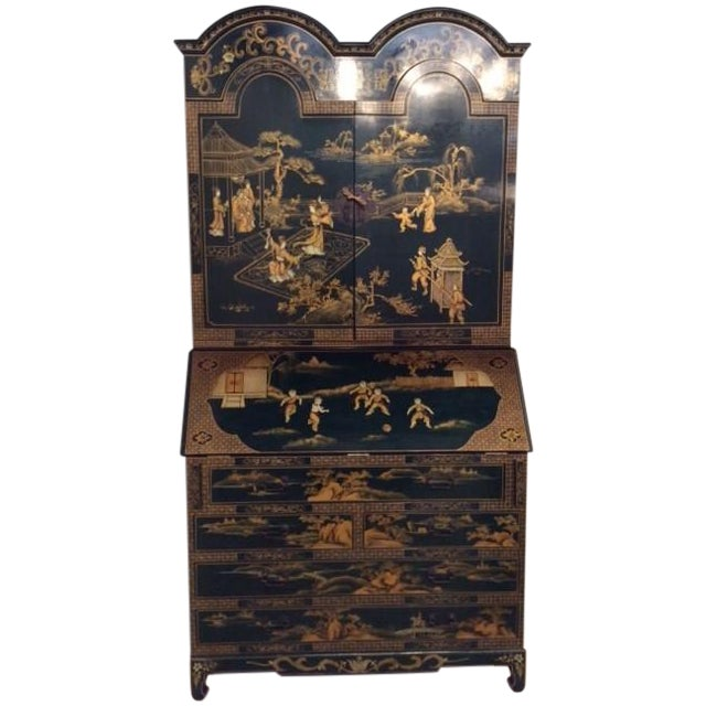 Vintage Chinoiserie Chippendale Secretary - Image 1 of 11