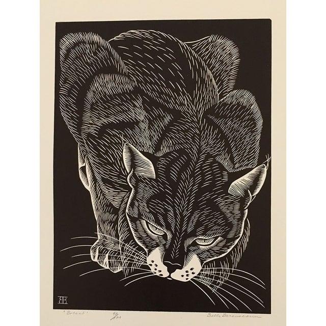 """Bobcat"" Linocut by Belle Baranceanu - Image 1 of 2"