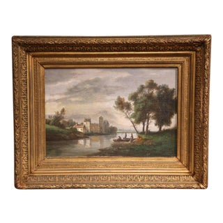 Gilt Framed French Pastoral Paintings - A Pair