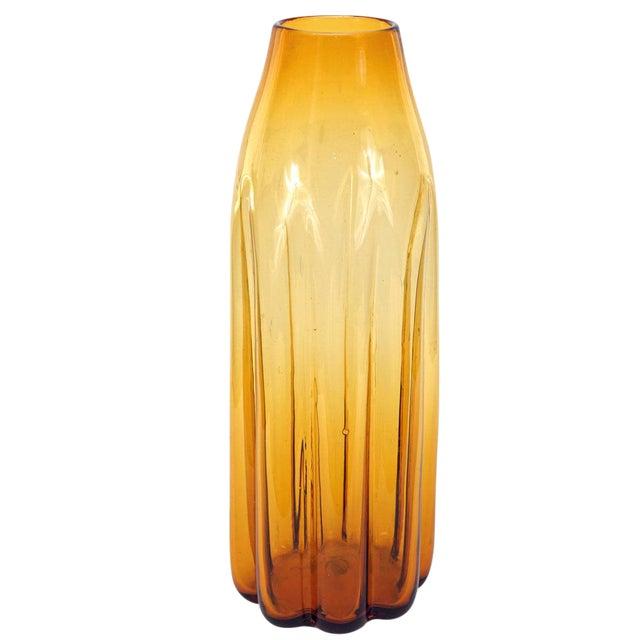 Blenko Amber Vase - Image 1 of 3