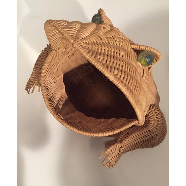 Vintage Wicker Frog Basket - Image 3 of 4