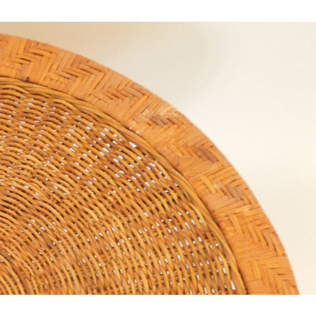 1970s French Woven Reed Rattan Coffee Table - Image 9 of 9