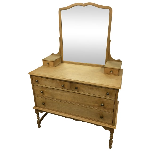 1940's Solid Wood Dresser with Mirror - Image 1 of 9