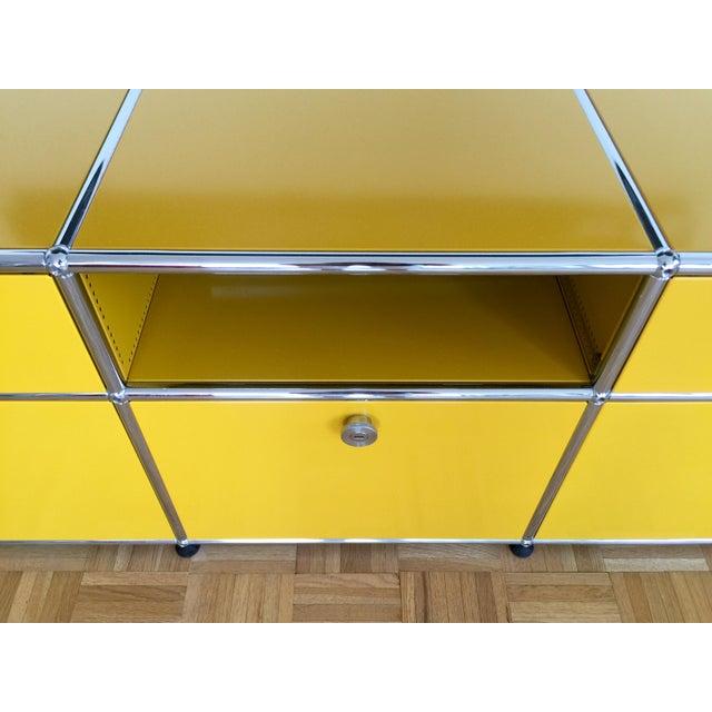 Golden Yellow USM Haller Credenza - Image 5 of 6