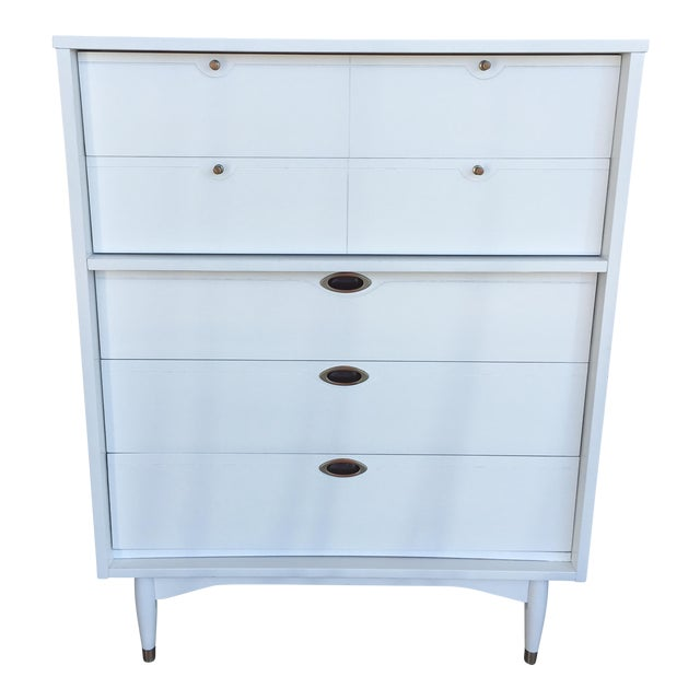 Hooker Mid-Century Lacquered White Chest - Image 1 of 8