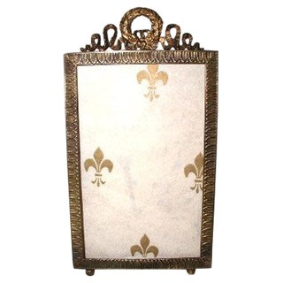 19th Century French Brass Frame