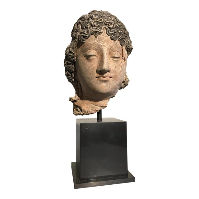 Gandharan Terracotta Head of a Bodhisattva, 3rd - 5th century - Image 1 of 10