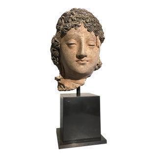 Gandharan Terracotta Head of a Bodhisattva, 3rd - 5th century