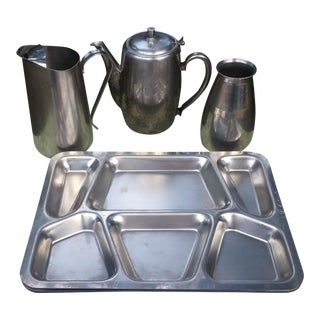 Stainless Steel Military Serving Pieces - Set of 6