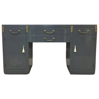 High Gloss Gray Sideboard