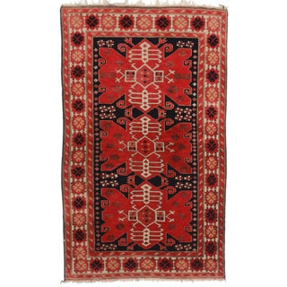 RugsinDallas Antique Turkish Area Rug - 3′5″ × 6′7″