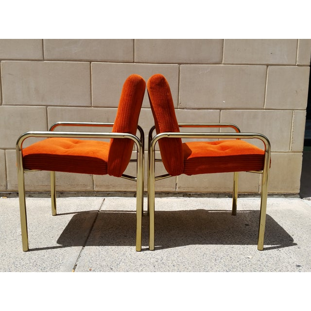 Image of 1980 Daystrom Orange Reception Chairs - a Pair