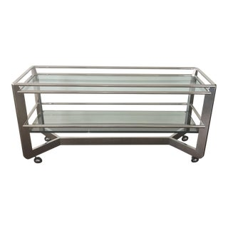 Chrome & Glass Shelf Buffet
