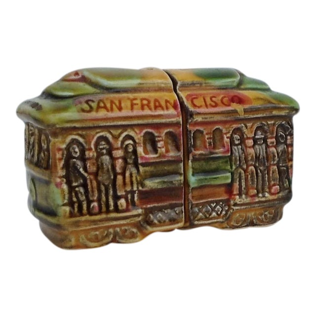 Vintage San Fransisco Cable Car Salt & Pepper Shakers - Image 1 of 11