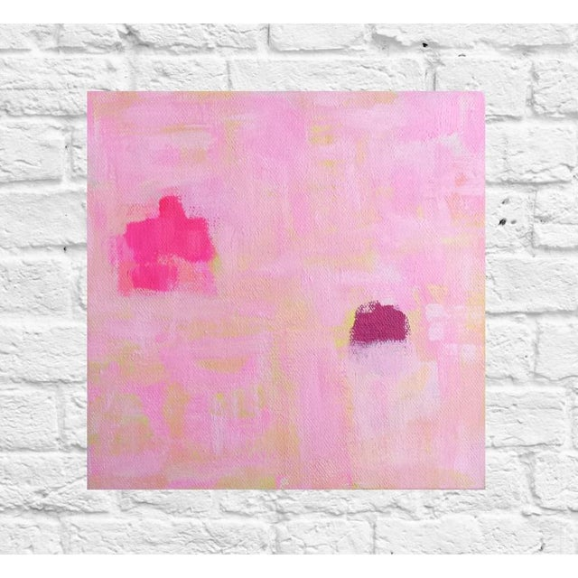 """Susie Kate """"Spring Pink"""" Abstract Painting - Image 2 of 3"""