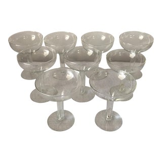 Contemporary Hollow Champagne Glasses - Set of 9