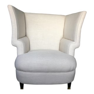 Modernist Linen Chair