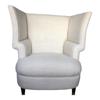 Modernist Linen Chair