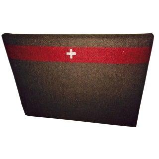 Twin Bed Headboard in 1960s Swiss Army Blanket