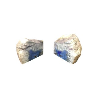 Purple Agate Geode Bookends - Pair