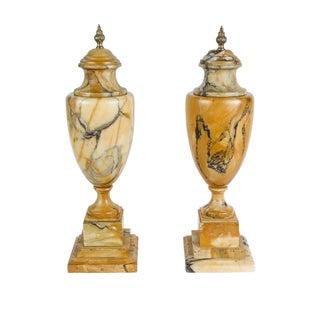 Pair of Siena Marble Urns, circa 1900