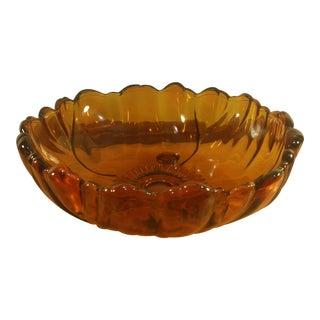 Amber Sunflower Serving Bowl