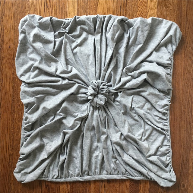 Quilted Rosette Gray Euro Shams- A Pair - Image 2 of 6