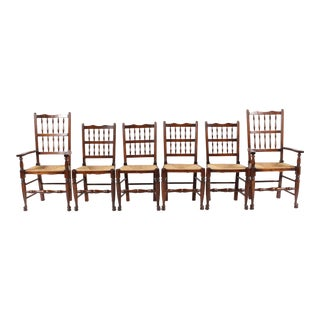 Antique Elizabethan-Style Chairs - Set of 6
