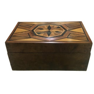 Large Burled Walnut Marquetry Box