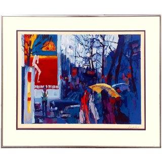 """Nicola Simbari """"Paris at Dusk"""" Serigraph"""