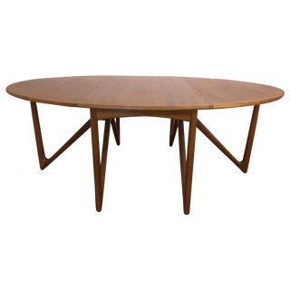 Kurt Ostervig Danish Teak Drop Leaf Dining Table