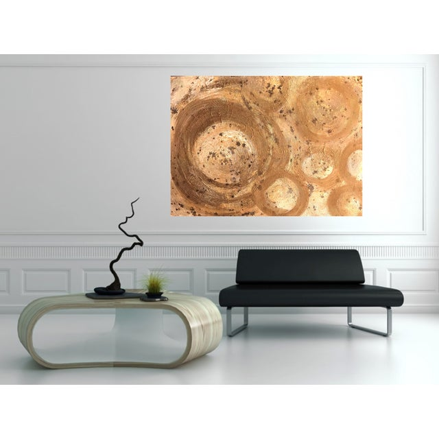 Image of Bryan Boomershine Gold Rings Painting
