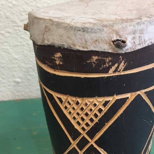 Vintage Hand Made Drum - Image 3 of 6