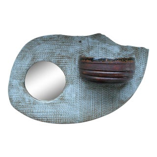 Boho Wall Pocket & Mirror