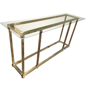 Hollywood Regency Italian Brass Console Table
