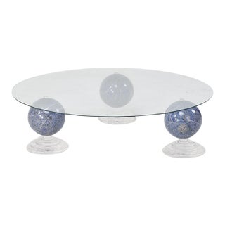 "Lapis Lazuli ""Tri-Orbic"" Coffee Table, C. 1983"