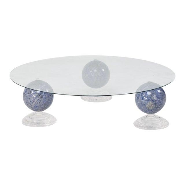 "Lapis Lazuli ""Tri-Orbic"" Coffee Table, C. 1983 - Image 1 of 6"